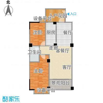 一品金子湾92.09㎡C户型2室2厅1卫户型2室2厅1卫