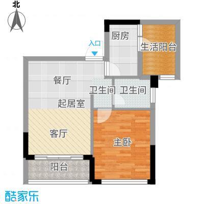 朝兴龙城国际49.73㎡1、2号楼22-24层4、5号套内面积约为建筑面积约为户型1室1卫1厨
