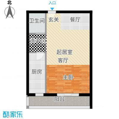 天翔・新新家园(二期)66.53㎡一房一厅一卫-66.53-6套户型