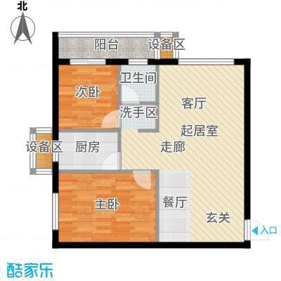 天翔・新新家园(二期)85.79㎡二房一厅一卫-85.79平方米-18套户型