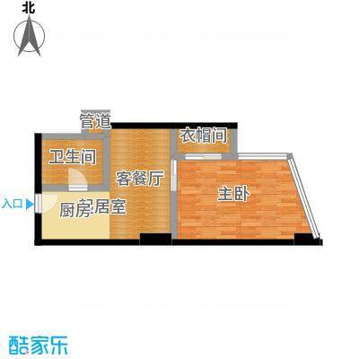 中海龙港(BOBO国际)48.69㎡48.00户型