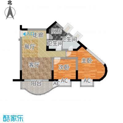 聚丰锦绣盛世(一期)67.93㎡房型: 二房; 面积段: 67.93 -71.24 平方米;户型