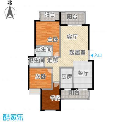 奥园水云间双卫C5-6户型3室2卫1厨