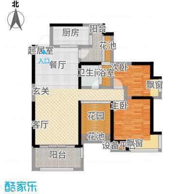 勤诚达新界93.06㎡D3-4户型 1-32F 二室二厅一卫户型2室2厅1卫