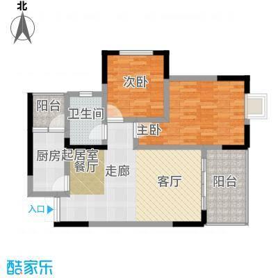 兴现金鼎龙泉89.00㎡小高层户型2室1卫1厨