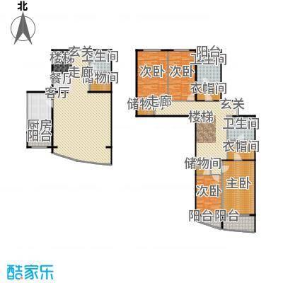 元大都7号276.00㎡C/D/E-2户型 四室两厅三卫户型4室2厅3卫