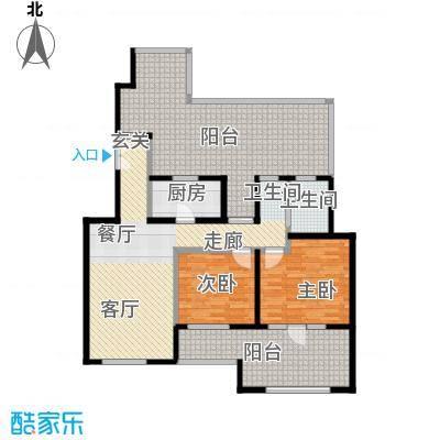 中国铁建・花语城89.00㎡2-H6户型2室1卫1厨
