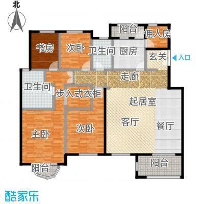 中国铁建・花语城196.00㎡楼王4-J3户型4室2卫1厨