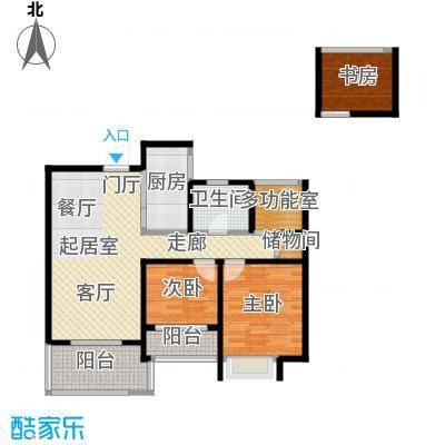 绿地中央广场90.00㎡绿地中央广场90.00㎡2室2厅1卫户型2室2厅1卫