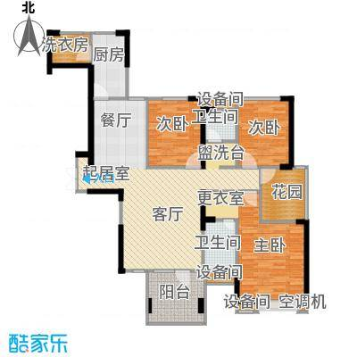 联诚国际城129.09㎡C2-D户型 3室2厅2卫户型3室2厅2卫