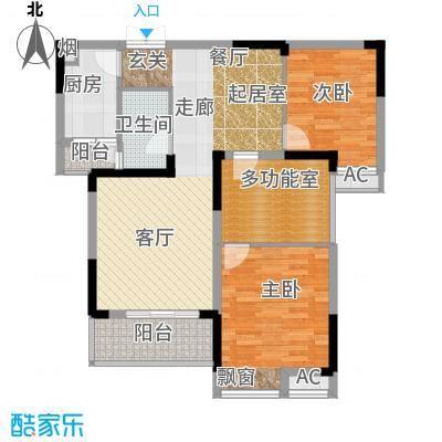 玛丽的花园90.05㎡90.05平米的三居室户型3室2厅1卫