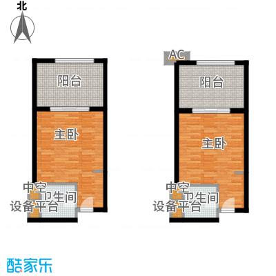 戴斯大卫营(已售完)标间 一室一厅单卫一厨一阳台 销售面积38.03平米户型