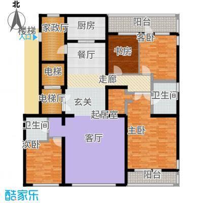 五矿万科・如园220.00㎡A顶层户型4室2厅2卫