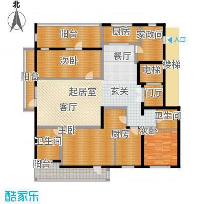 五矿万科・如园220.00㎡Bd顶层户型4室2厅2卫