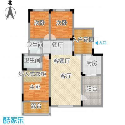 磐石圣缇亚纳7-10楼4F洋房D户型3室1厅2卫1厨
