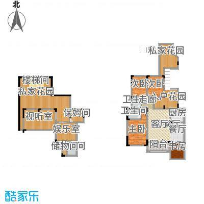 磐石圣缇亚纳7-10号楼2F洋房B地下室全赠送户型4室1厅3卫1厨