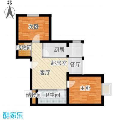 塞纳维拉・永定华庭80.23㎡I户型2室2厅1卫