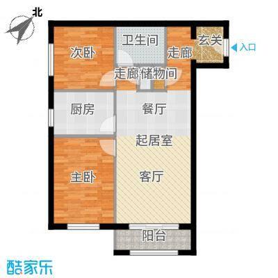 塞纳维拉・永定华庭88.83㎡G户型2室2厅1卫