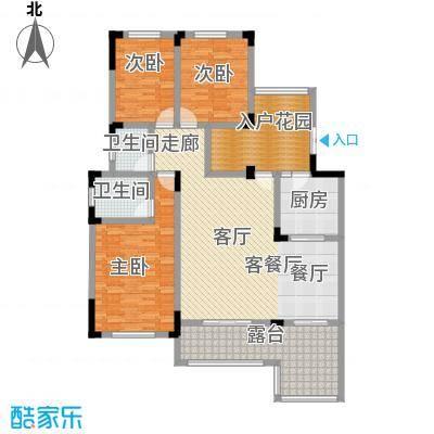 磐石圣缇亚纳7-10楼3F洋房C户型3室1厅2卫1厨