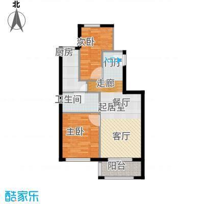 塞纳维拉・永定华庭76.38㎡D户型2室2厅1卫