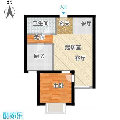 塞纳维拉・永定华庭65.42㎡B2户型1室1厅1卫