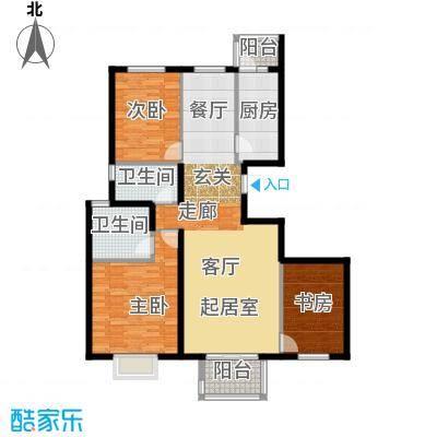 上林溪南区116.00㎡C1户型3室2厅2卫