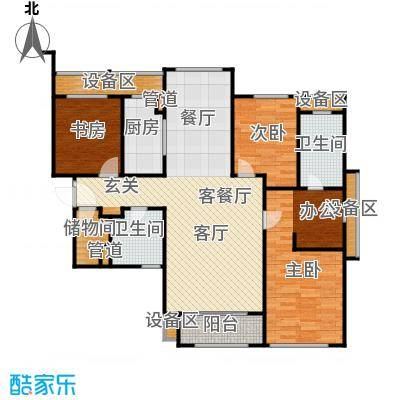 华润公元九里-九里公馆157.00㎡G户型 三室两厅两卫户型3室2厅2卫