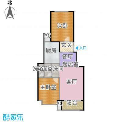 北京城建・海梓府76.00㎡B户型2室2厅1卫