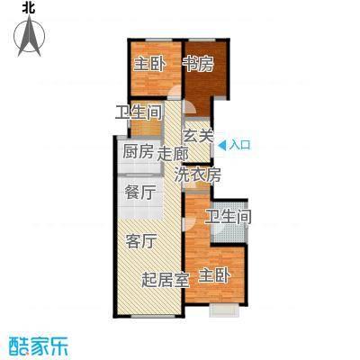 中冶・德贤公馆户型3室2卫1厨
