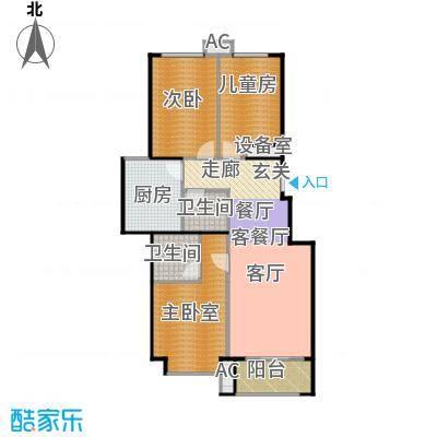 北京城建・海梓府96.00㎡A户型3室2厅2卫