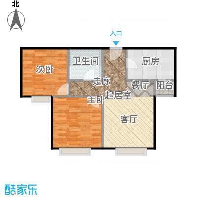 中信府・世家84.00㎡B1号楼B户型2室2厅1卫