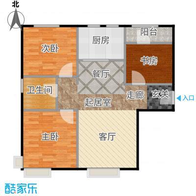 中信府・世家82.00㎡户型3室2厅1卫