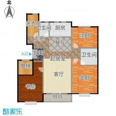 中信府・世家142.00㎡舒适精舍户型3室2厅2卫
