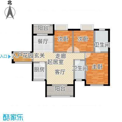 天麓尚层4栋F户型3室2卫1厨