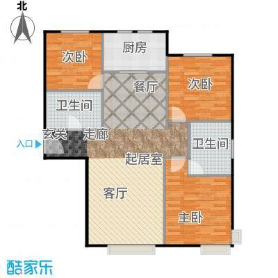 中信府・世家124.00㎡户型3室2厅2卫