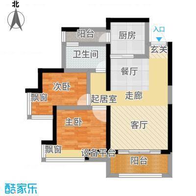 勤诚达新界85.20㎡D3-5户型 1-32F 二室二厅一卫户型2室2厅1卫