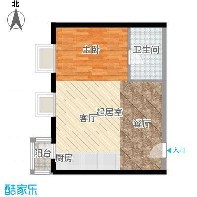 悠唐・麒麟公馆70.63㎡8号楼04户型1室2厅1卫