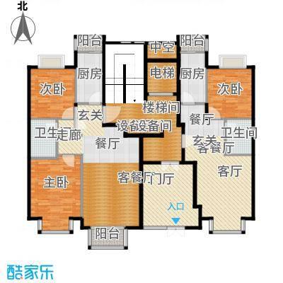 润泽悦溪88.00㎡901、902号楼Cb1户型3室2厅2卫2厨