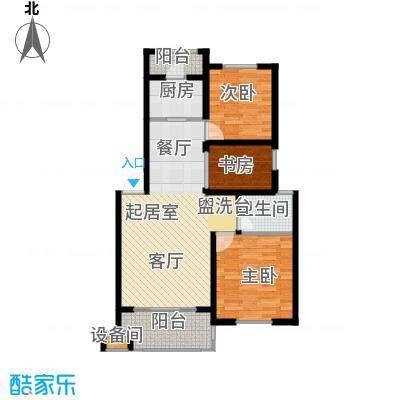 澳海澜庭88.10㎡3室2厅1卫户型3室2厅1卫