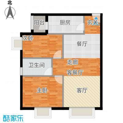 北京城建・筑华年92.00㎡1号楼D-3户型10室