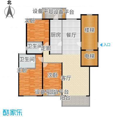 燕归宁馨园147.00㎡三室两厅两卫户型