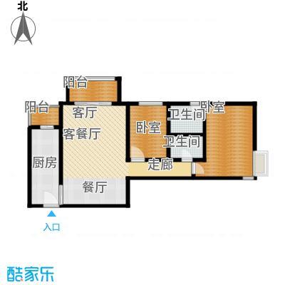 北苑家园中心区(锦城)103.52㎡户型10室