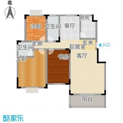 麓山里佳园2室2厅2卫 139.43㎡户型2室2厅2卫