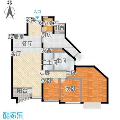 万科水榭花都157.91㎡三室两厅两卫户型
