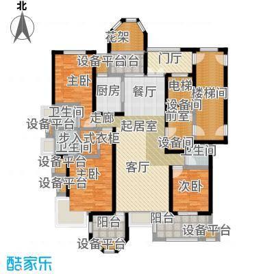 中豪东湖一品170.50㎡项目25号楼01单元C-1户型3室2厅3卫
