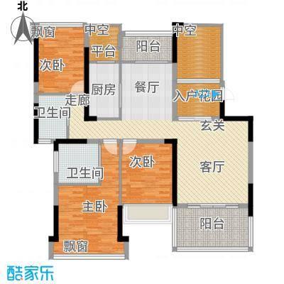 锦绣虔城126.00㎡博雅三房户型3室2厅2卫