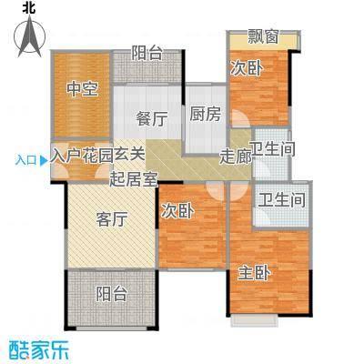 锦绣虔城118.00㎡尊雅三房户型3室2厅2卫