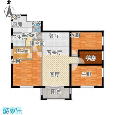 宏源大厦(宏源公寓)128.42㎡四室二厅二卫户型