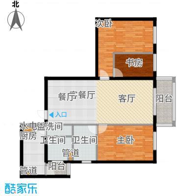 宏源大厦(宏源公寓)106.61㎡三室二厅二卫户型