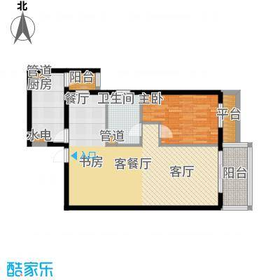 宏源大厦(宏源公寓)81.12㎡一室二厅一卫户型